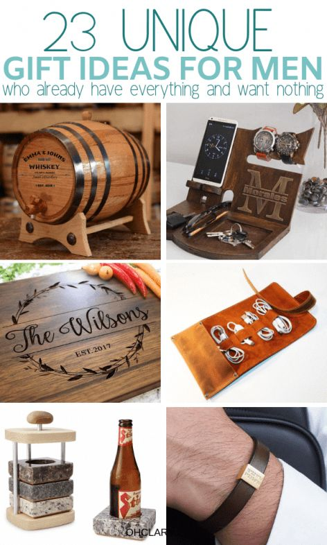 23 Unique Gift Ideas For Him That Will Rock His World! Romantic birthday, Christmas and Valentine's day gifts for boyfriends, husband or friend. These AWESOME presents for men are great for any man in your life, your dad, brother or even a co-worker! If you don't know what to get him, check out my gift guide for men for great ideas! #giftsforhim #valentinesgiftforhim #christmasgifts #christmasgiftideas #giftsforfriends #ThoughtfulgiftsForHim