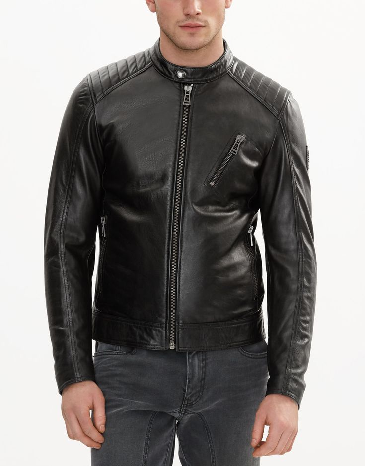 Belstaff V RACER Jacket In Black Nappa Leather