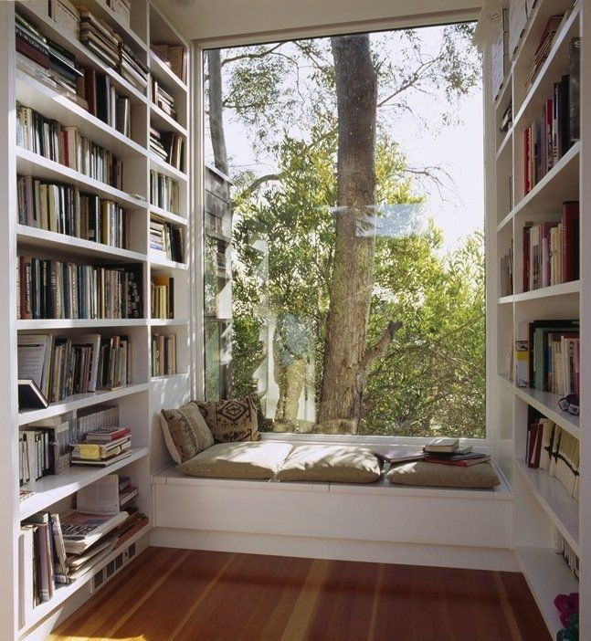 day bed window seat | Book Nook…Reading Nook. Often using a daybed or window seat and ...