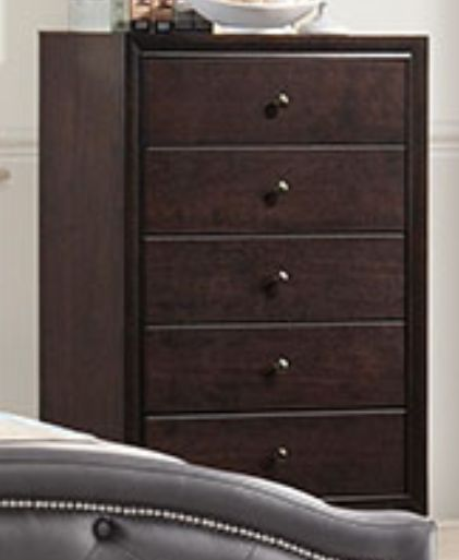 Poundex Dark Brown Chest of Drawers F4864