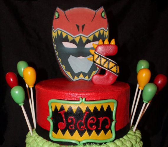 Power Rangers Dino Charge Cake Decoration Set by NaomisSweetArt