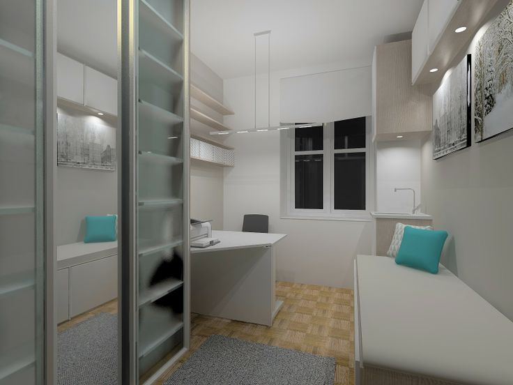 Kitchen converted to a doctor's appointment room/ home office