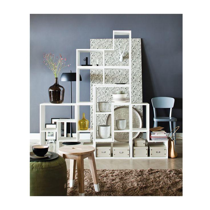 AuBergewohnlich Woood Tetris Stapelkast/Roomdivider Wit Set Van 4