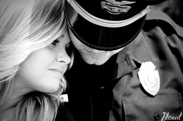 Too good not to pin! Police engagement pictures