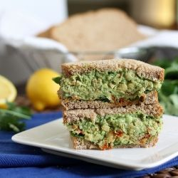 Chickpea Pesto Sandwich. Part Italian, part Greek, part Mexican. A multicultural party in your mouth.
