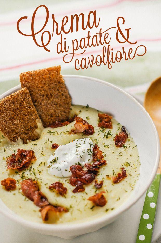 Crema di patate e cavolfiore / Potato and cauliflower cream soup