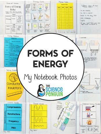 Forms of Energy Science Notebook Photos: uses of energy, sound, reflection and
