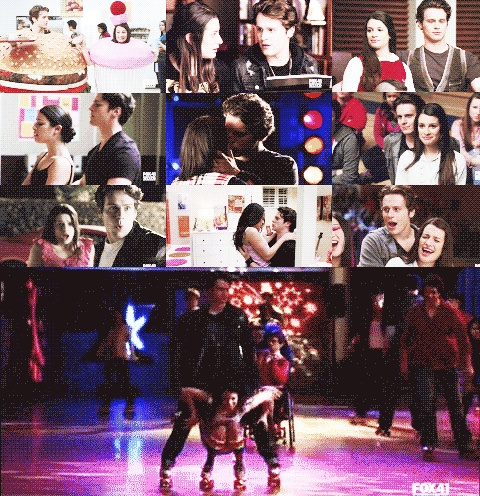 rachel berry & jesse st. james (glee)
