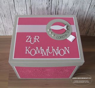 Geschenkbox Überraschungsbox Explosionsbox Kommunion Geschenkgutschein Geldgeschenk