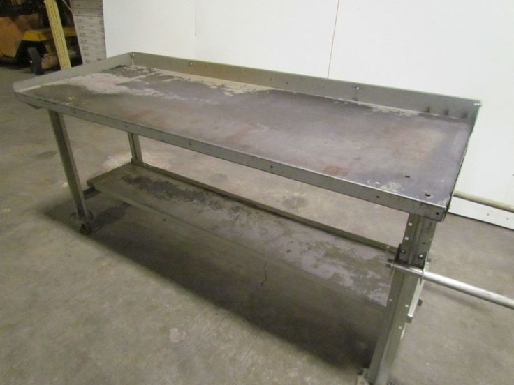 Lyon 6' Portable Steel Workbench Industrial Factory Worktable Roll-Around