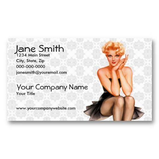17 best pin up girl business cards images on pinterest business retro pin up business card templates colourmoves
