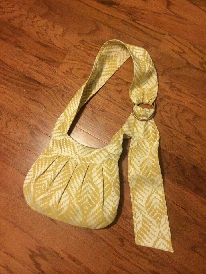 Ring strap wrap scrap bag. For babywearing.