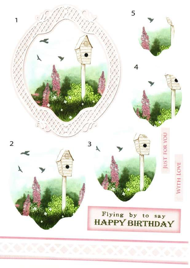 Debbi Moore Designs - Shabby Enchanted Garden card toppers #2
