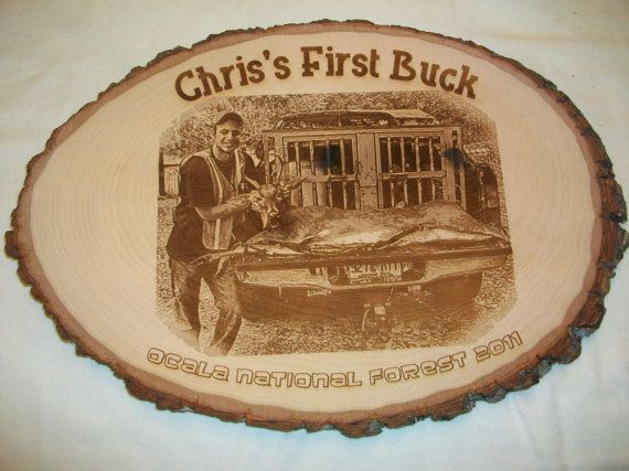 Great Gift for hunters! Beautiful photo engraved on basswood burl. Surprise someone special!