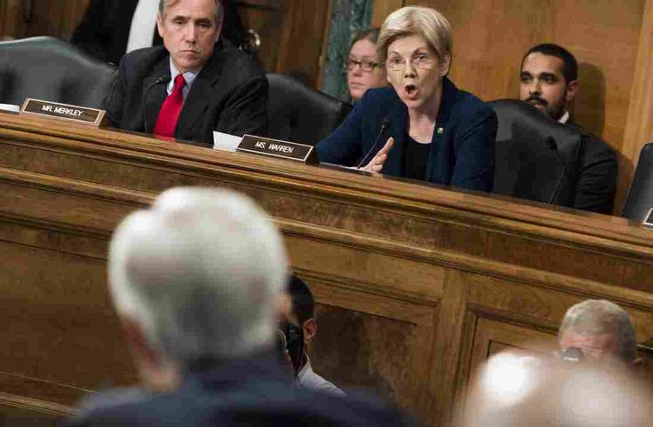 """""""If one of your tellers took a handful of $20 bills out of the cash drawer, they'd probably be looking at criminal charges,"""" Warren tells the bank's CEO."""