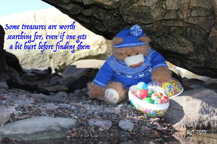 Tor the Bear, Norway, treasure, search, love, inspirational quote, teddybear