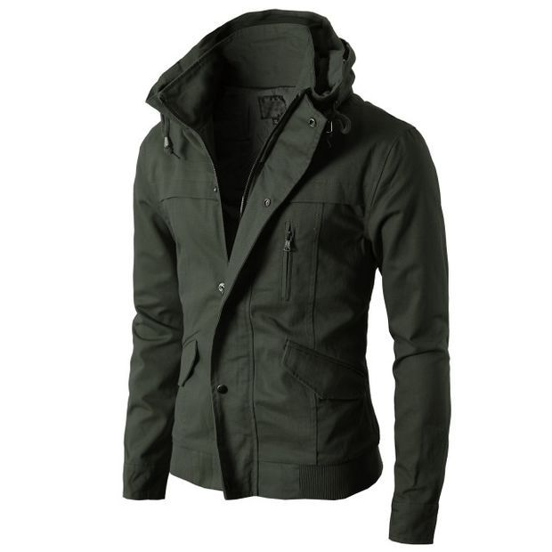Mens High neck Field Jackets without Hood KMOJA024