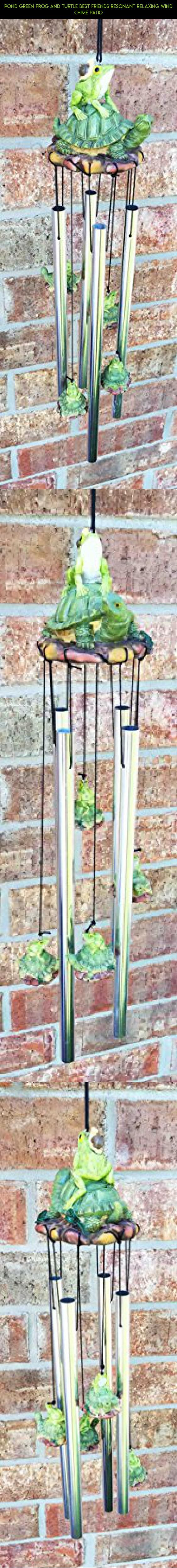 Pond Green Frog And Turtle Best Friends Resonant Relaxing Wind Chime Patio #gadgets #racing #frogs #technology #tech #camera #products #outdoor #decor #fpv #drone #kit #plans #parts #shopping