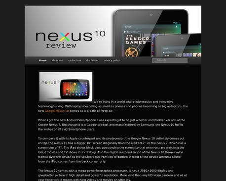 http://nexus10review.com/ | Nexus 10 Review - Google Nexus 10, we can call it android's most promising iPad alternative. To date we can call it as best android tablet because of its superior design and great performance.