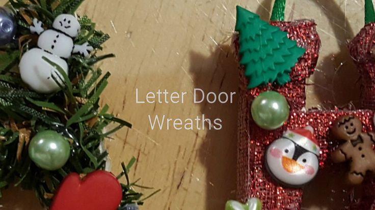 Letter Door Wreaths