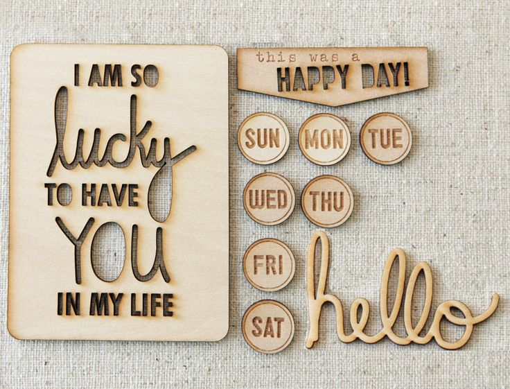 Exclusive Happy Day Wood Veneers that coordinate with the April Elle's Studio kit - while supplies last!