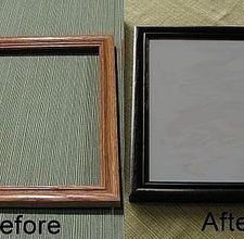 How to repaint a picture frame.  Did this today!!!  It really works!!!