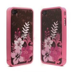 BD Covers Artistic and Elegant Pink Flowers Protective Case for iPhone 4/4S