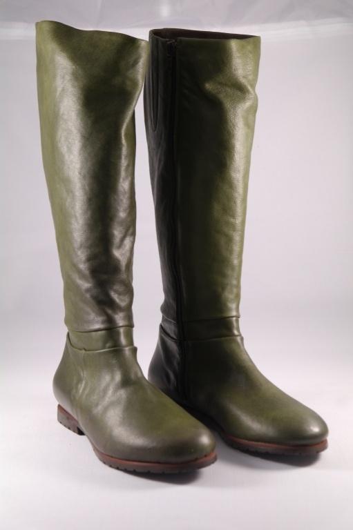 Gidigio lang grøn støvle m. rågummisåler - Lange støvler - Askepot sko