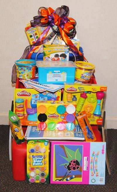 Silent Auction Ideas - Kids craft basket.