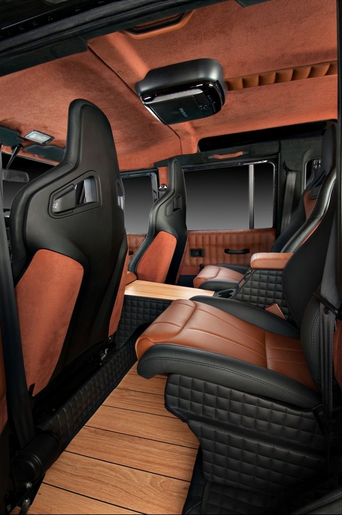 Vilner 110 rear passenger compartment - giving a Range Rover a run for its money in opulence stakes.