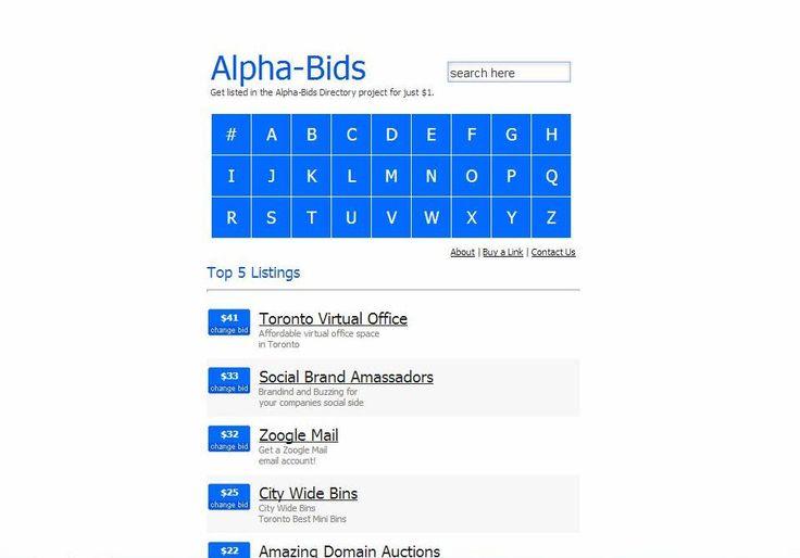Alpha-Bids – Run your Own Paid Bidding based Niche Web Directory