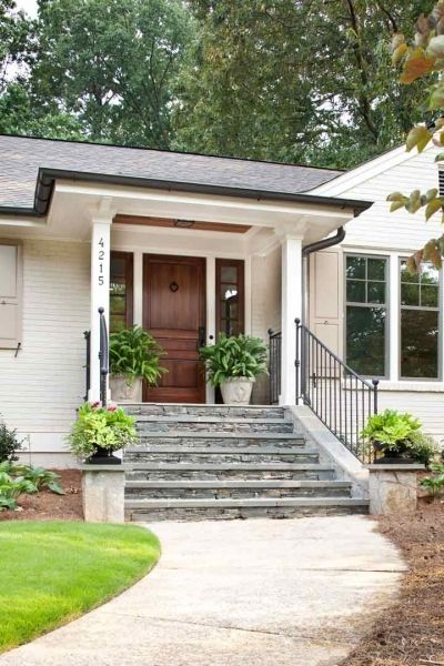 steps front entry dark doors exterior makeover exterior paint stone