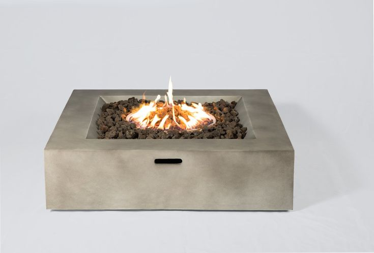 Santiago Concrete Propane Fire Pit Table