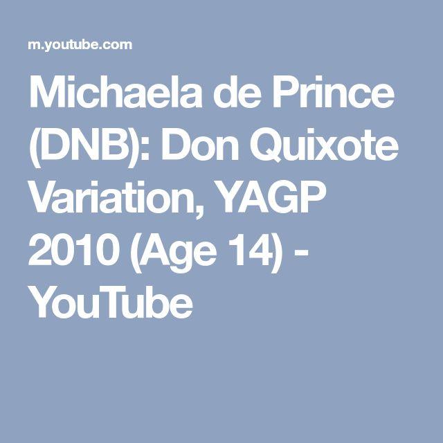 Michaela de Prince (DNB): Don Quixote Variation, YAGP 2010 (Age 14) - YouTube