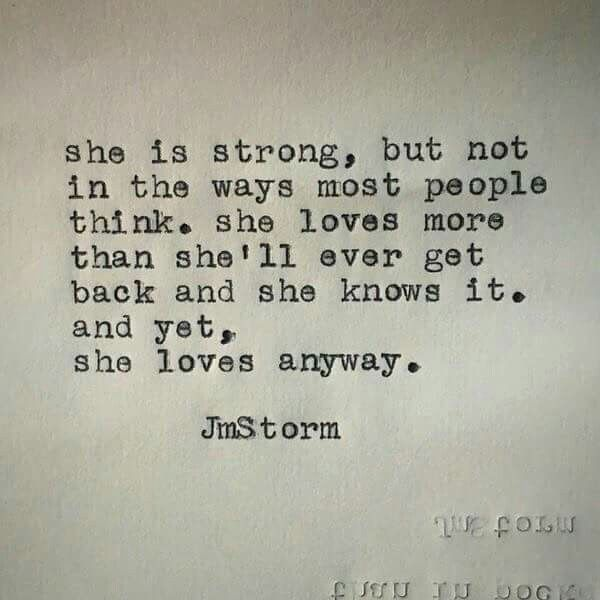 And yet, she loves anyway