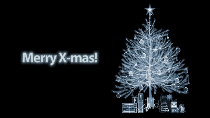 """X-Ray X-Mas Tree. The only scenario when using """"X-"""" to replace the """"Christ"""" in Christmas is ok."""