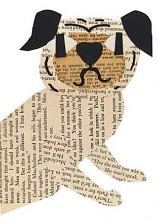 Simple and fun kids paper craft ideas: dogs and cats appliques from newspapers | DIY is FUN