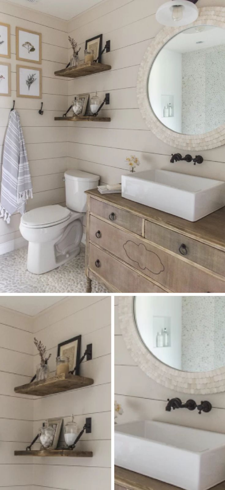 this looks like a farmhouse bathroom but bright and airy like a rh pinterest com mx
