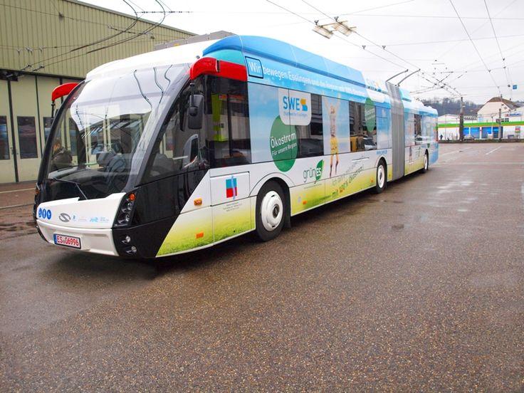 Solaris Trollion trolleybus in Esslingen, Germany