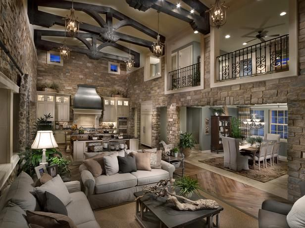 Best Open Floor Plans Images On Pinterest