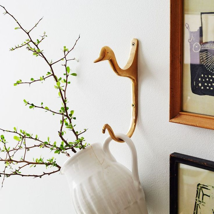 Brass Duck Hook - Love love love! It's quackers and I love it!