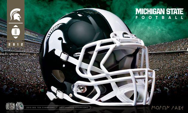 2012 MSU Football Poster #Spartans