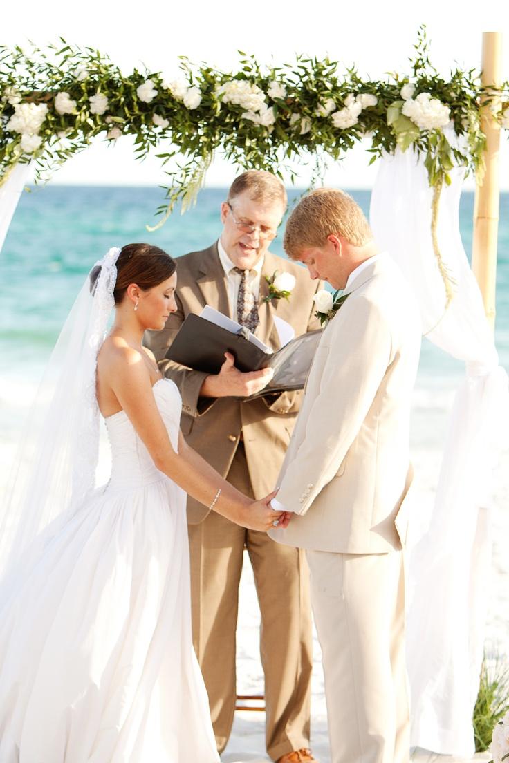 Ceremony Altar  Beach Wedding Destin, Florida Beach Wedding Santa Rosa, Florida Beach Wedding