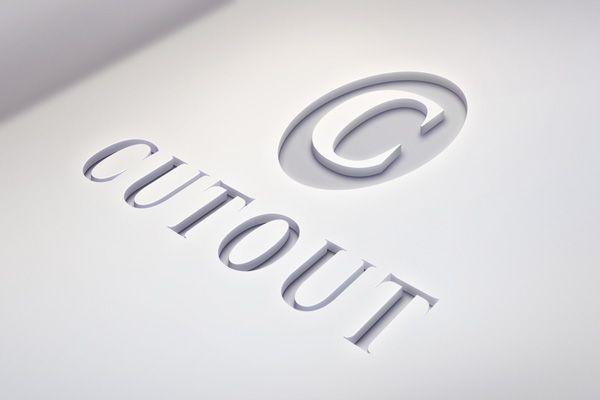 GMF: free download Cutout Logo MockUp