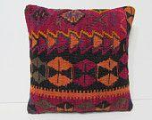kilim pillow mid century rug throw pillow sofa kilim cushion striped cushion cover ethnic design contemporary cushion art pillow sham 26608