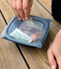 This kid's  Bank is so easy!!  Kids' DIY: Upcycling Disposable Food Containers