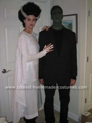 For Ronnie & Me this Halloween?   Homemade  Frankenstein's Monster and the Bride of Frankenstein Costumes