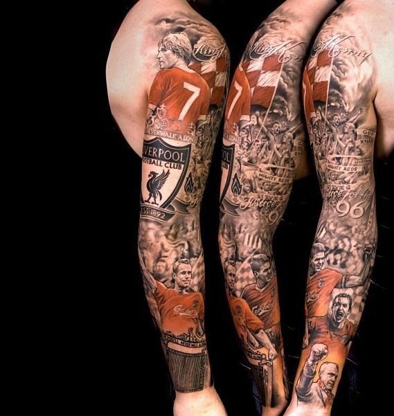 Liverpool tattoo.  via https://twitter.com/STlacy/status/289082385541263361/photo/1