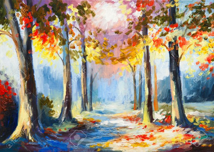 Peinture l 39 huile color paysage de printemps la route - Pinterest peinture a l huile ...