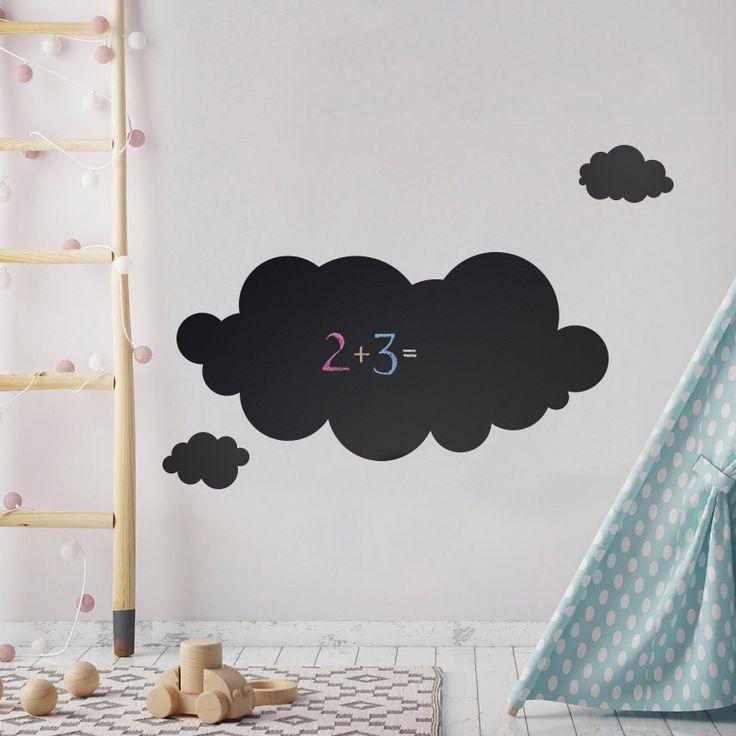 Chmurka z folii kredowej, która będzie doskonałą alternatywą dla dekoracji w pokojach dziecięcych.